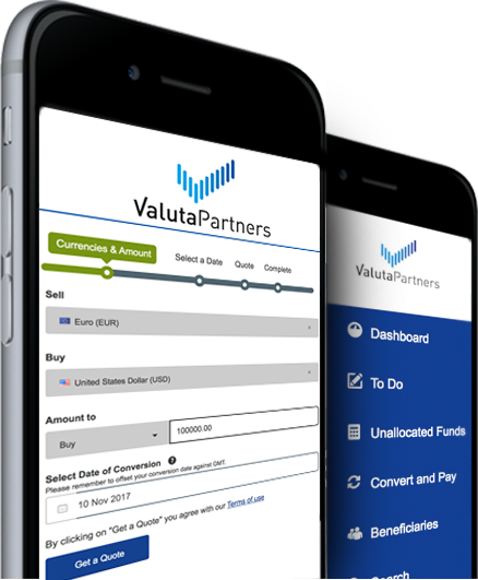ValutaPartners valutaplatform mobiel any device online